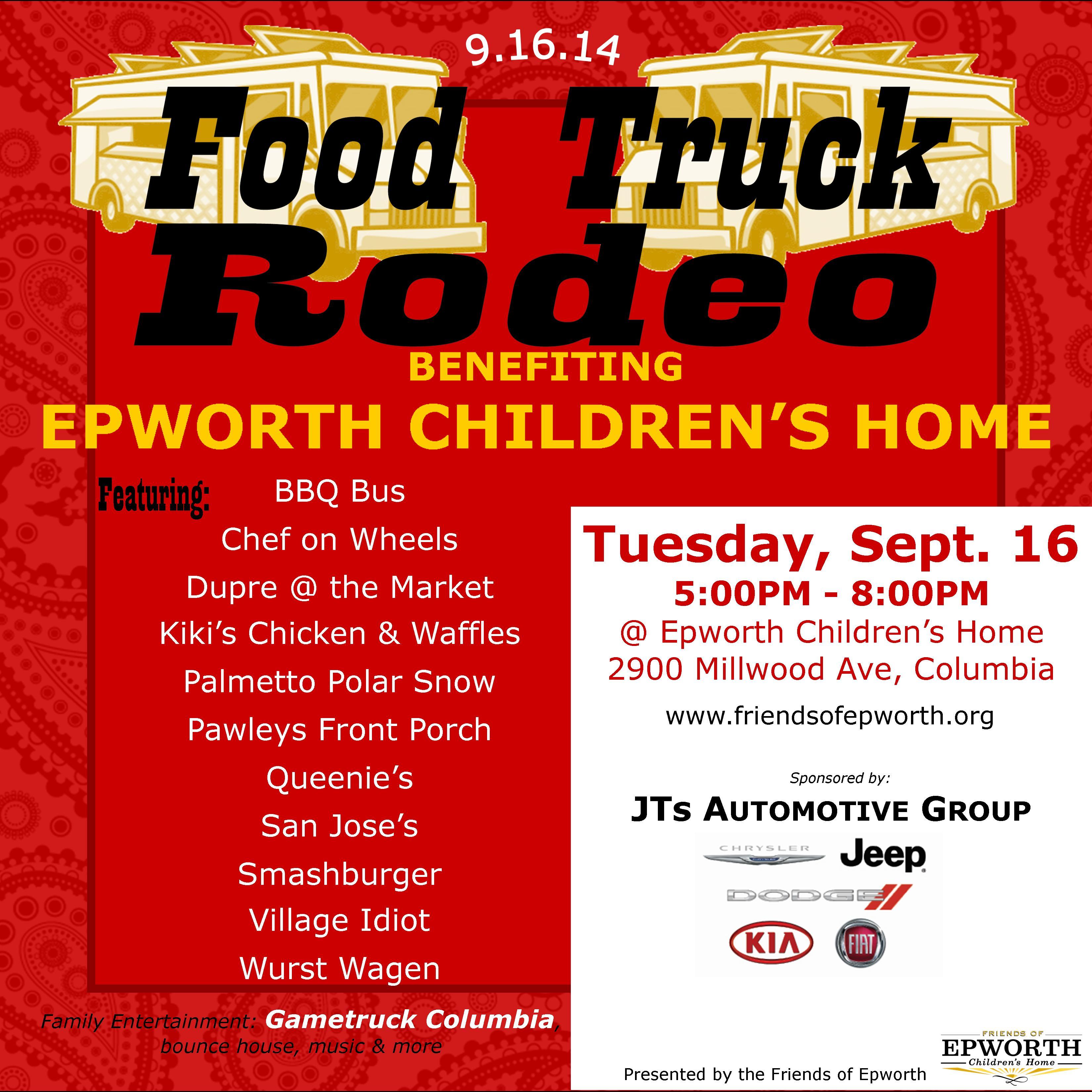 Food Truck Rodeo Sept 16 Epworth Children S Home
